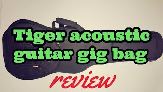 Tiger Guitar Bag: review and testing ability to carry various guitars
