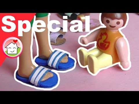 Pimp my PLAYMOBIL deutsch - Schuhe shoppen - Sandalen DIY - Kinderserie - Family Stories