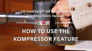 Video 3 of Product LG CordZero A9 Kompressor Stick Cordless Vacuum Cleaner