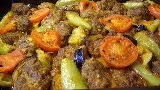Frikadellen mit Gemüse im Ofen-Türkische Rezepte-Izmir köfte