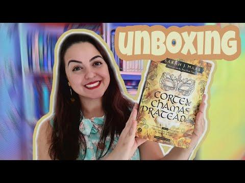 Unboxing Corte de Chamas Prateadas com brindes | Isadora Livros
