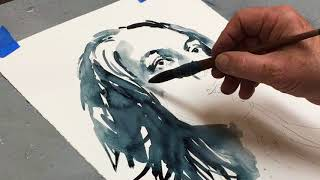 Female Watercolor Study