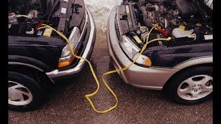Как прикурить аккумулятор от другой машины?