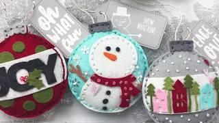 DIY Felt Ornaments With Essentials By Ellen