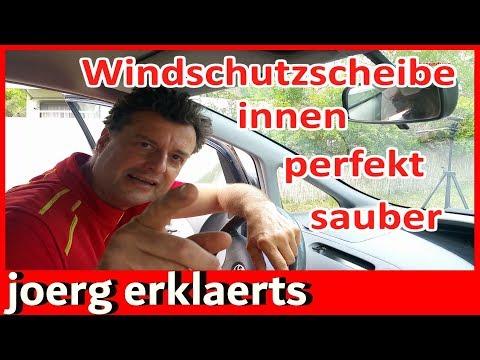 Windschutzscheibe blitzblank innen reinigen bis in jede Ecke Autoscheibe Tutorial Nr.249