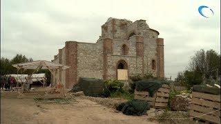 Завершается основной этап работ по консервации руин церкви Благовещения