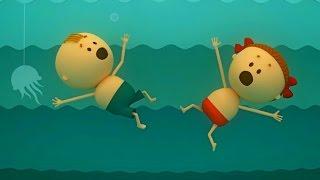 Аркадий Паровозов спешит на помощь - Почему нельзя заплывать за буйки - мультфильм детям