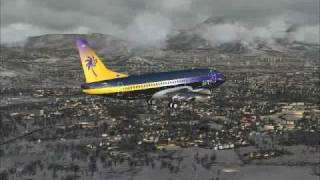 preview picture of video 'Air Canadian Sun Boeing 737-300 Landing Runway 16 LOWS'