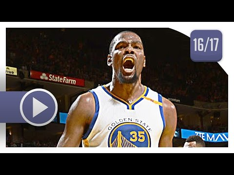 Kevin Durant Full Highlights vs Jazz (2017.04.10) - 16 Pts, 10 Reb, 6 Ast