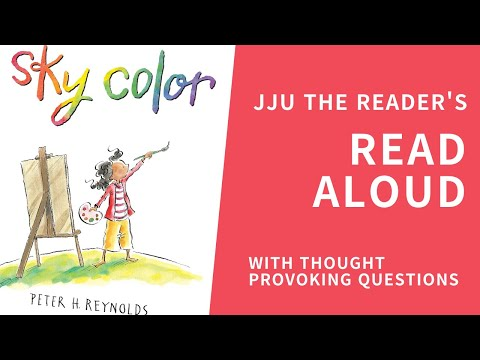 Study English/thought provoking questions/no dictionary needed/Sky Color by Peter H. Reynolds