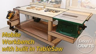 Mobile Workbench with built in TableSaw