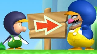 Wario and Baby Luigi in New Super Mario Bros Wii (2 Players)