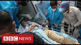India's Covid frontline: one hospital's desperate struggle to save lives - BBC News