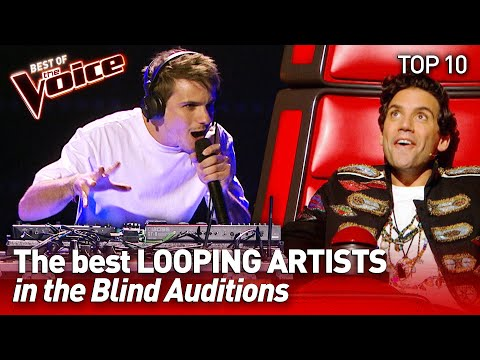 TOP 10   Incredible LIVE LOOPING ARTISTS in The Voice