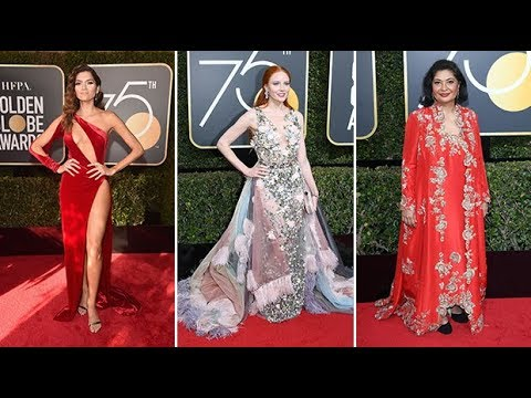 All but three women wear black to the Golden Globes