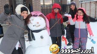 رجل الثلج السعودي - غرزت السيارة بالثلج
