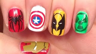 Marvel Nail Art Tutorial (REQUEST)