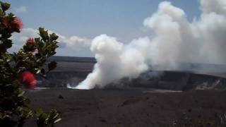 preview picture of video 'Sudha Achar Films the arrival of spring on Halemaumau crater'