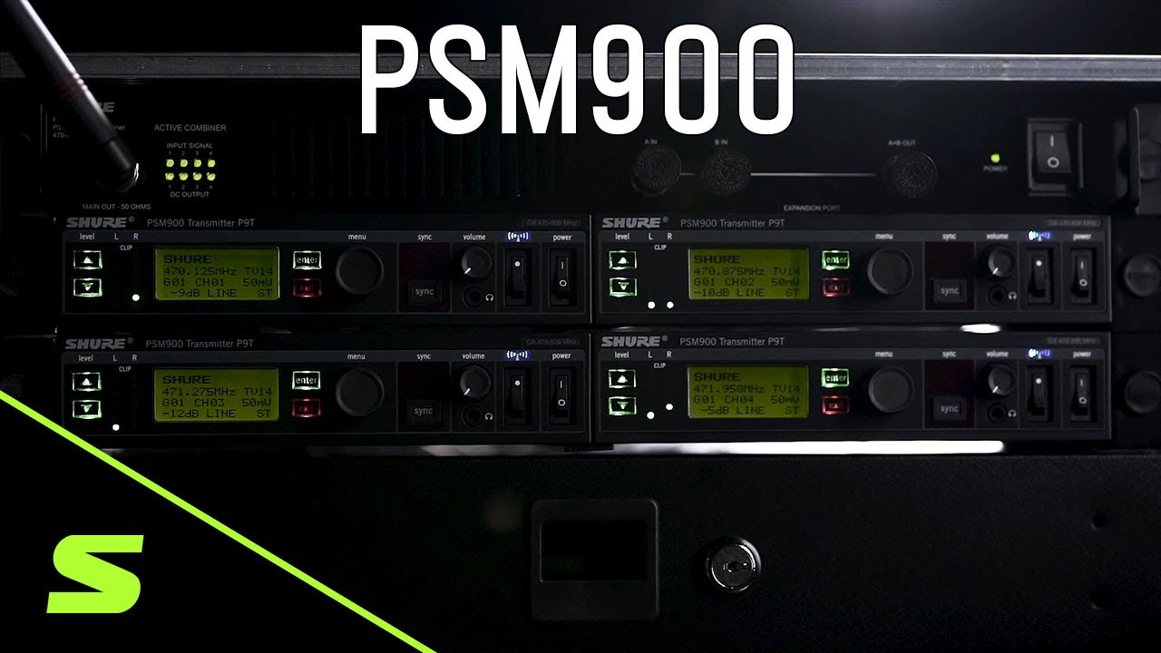 Shure PSM® 900 Personal Monitor System with P9RA+ Receiver