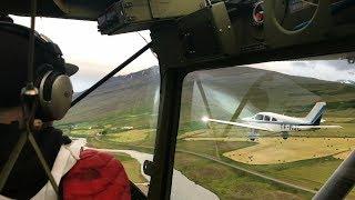 Cessna Bird Dog Landing On A RC Runway