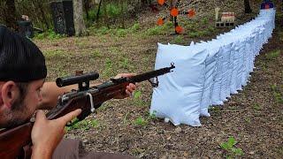 Сколько подушек пробьет винтовка Мосина?! | Разрушительное ранчо | Перевод Zёбры