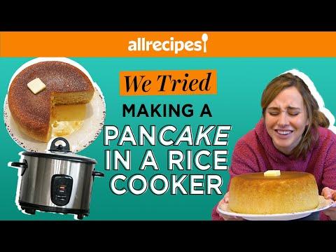 We Tried Making a PanCAKE in a Rice Cooker | TikTok Recipe | We Tried It | Allrecipes.com