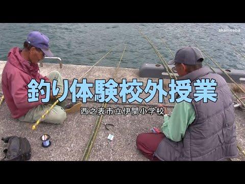 伊関小学校釣り体験校外授業・ミカン狩り〜種子島の学校活動