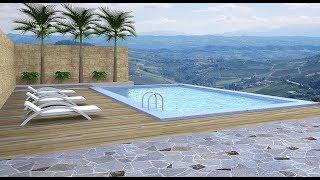 Sketchup tutorial (Make a swimming pool)