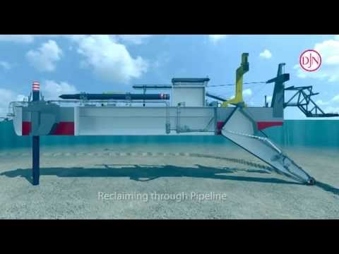 working of a cutter suction dredger