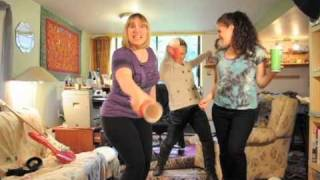 "Me and my friends dancing to ""Raise Your Glass"" from Glee"