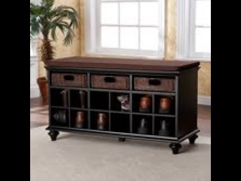 Video for Chelmsford Black Entryway Bench
