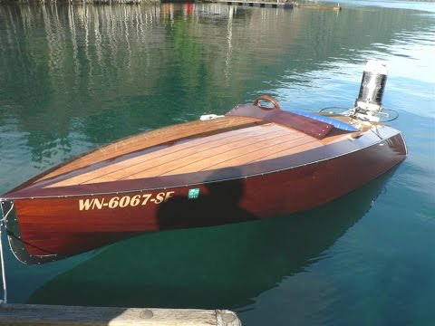 Rascal runabout, vintage1961 80hp Mercury outboard, home built mahogany speed boat/gentleman's racer