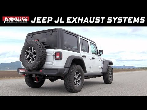 Flowmaster Cat-back and Axle-back Exhaust Systems for the 2018 Jeep Wrangler JL