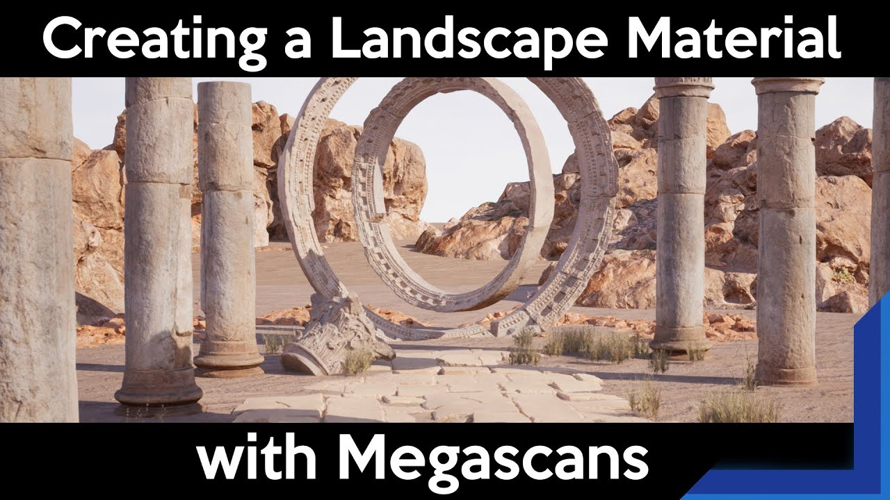 Quixel Tutorial Beginner: Surface Megascans as Landscape in Unreal Engine