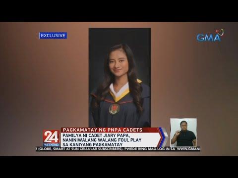 [GMA]  24 Oras: Pamilya ni cadet Jiary Papa, naniniwalang walang foul play sa kaniyang pagkamatay