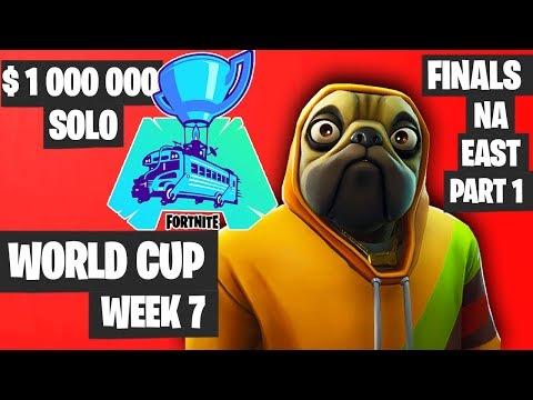 Fortnite World Cup Week 7 Highlights Final NA East SOLO Part 1 [Fortnite World Cup Highlights]