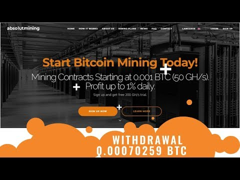 AbsolutMining.com отзывы 2019, mmgp, платит, WITHDRAWAL 0.00070259 BTC