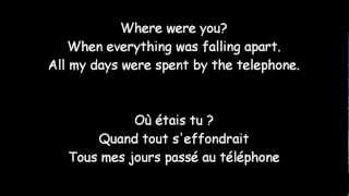 The fray- You Found Me ( Traduction anglaise & Française )