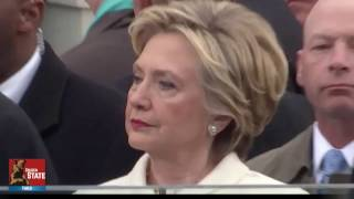 Hillary Cries while President Trump is being Sworn in at The Inauguration!!!