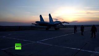 Бомбометание в ночных условиях: кадры из кабины пилота Су-34