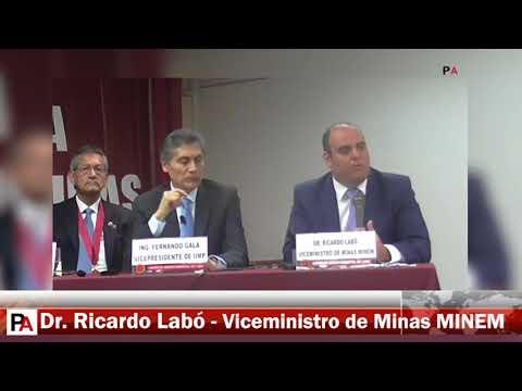 Semana de la Ingenieria de Minas - Ricardo Labó, vice ministro de Minas