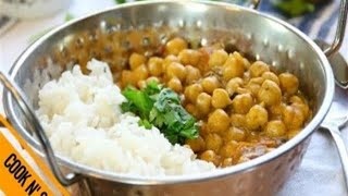 Coconut Curry Chickpeas - A Low Cal Vegan Dinner in 30 Minutes