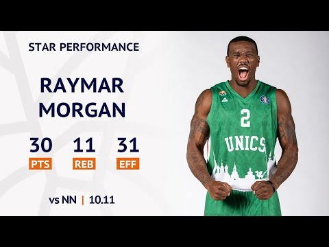 Star Performance. Raymar Morgan scores 30 PTS, helps UNICS to beat Nizhny Novgorod