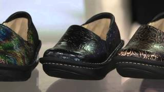 Alegria Leather Printed Slip-on Shoes - Debra Pro on QVC