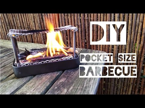 DIY POCKET BARBECUE – Tutorial for a small BBQ Grill