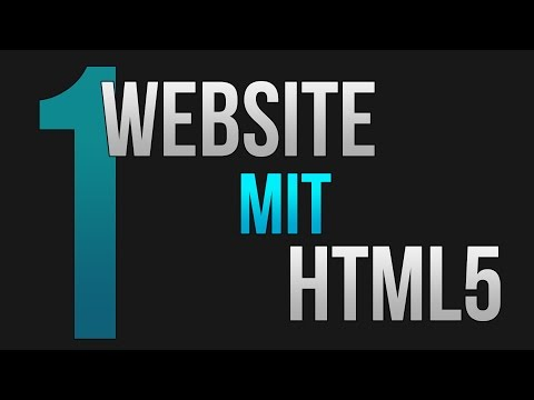 Website mit HTML #1 (Tutorial für Anfänger) • [German] [HD]