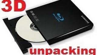 Samsung 3D Blu-Ray Dvd unpacking SE-506AB