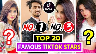 Top 20 Famous TikTok Stars Of India | Top Indian Tiktok Girls & Boys | Tik Tok Stars Name