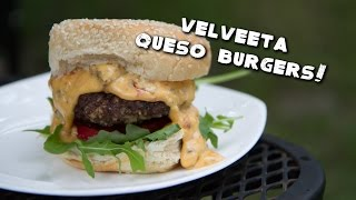 Beer and Chorizo Queso Burgers - VELVEETA Treasure Chest Challenge