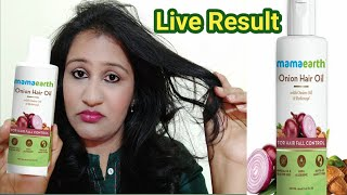 Mamaearth Onion Hair Oil Review ,Live Result After Using One Month || Mamaearth onion oil review